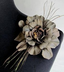 Изготовление цветов из натуральной кожи
