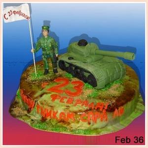 Торт на День защитника Отечества (23 февраля)