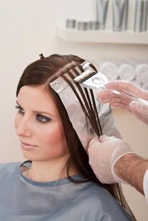 Как сделать мелирование волос на фольгу