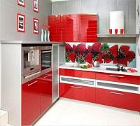 И ягод на кухонном фартуке из стекла