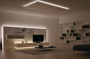 Подсветка мебели светодиодными лентами.
