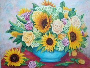 Заказать картины с цветами.