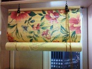 Новые ткани для бамбуковых римских и рулонных штор