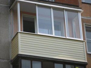 Внешняя отделка балкона в Новотроицке