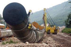 Строительство газопровода в Череповце.