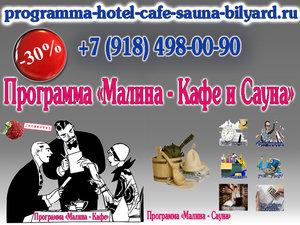 При заказе программы «МАЛИНА – Кафе и Сауна» - скидка 30% от общей стоимости двух программ! 49000 рублей