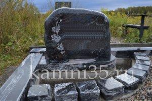 Шар. Габбро-диабаз Устюжна Эконом памятник Волна в камне Акша