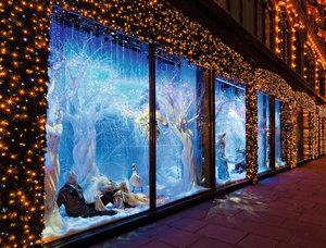 Световое оформление витрин магазина в Вологде