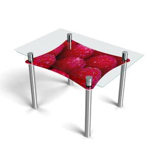 """Стеклянный стол с фотопечатью от """"Кухоньки"""""""