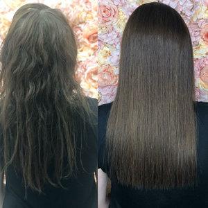 Наши выпускники: курс кератиновое выпрямление и ботокс волос