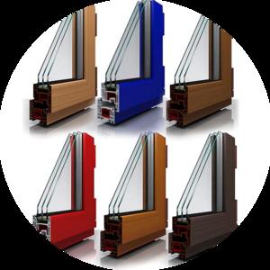 Изготовление и монтаж цветных пластиковых окон