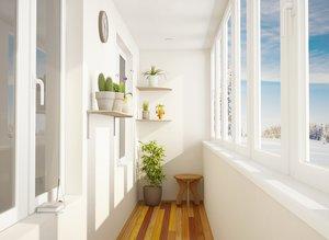Отделка балконов различными видами материалов в Котласе