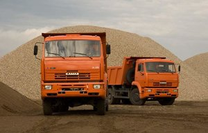 Осуществляем доставку песка в Вологде