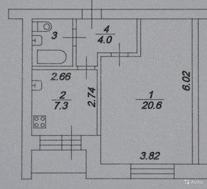 Продам 1-к квартиру, Советский пр-кт, д. 109
