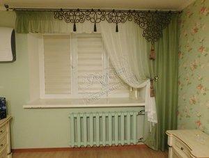 Стилизованные шторы в спальню
