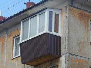 Увеличение верхней части балкона, вынос балкона вперед, сварочные работы