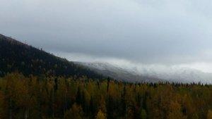 В Шерегеше снова снег.