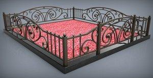 Изготовление ритуальных оград из металла