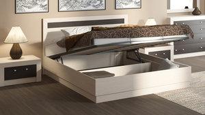 Современная кровать с подъемным механизмом