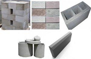 Строительные материалы: фундаментные блоки, шлакоблоки, тротуарная плитка, . . .