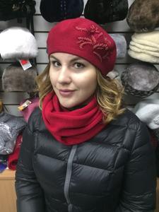 Женские комплекты из шапки и шарфа