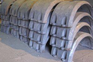 Чугунные утяжелители для балластировки трубопроводов