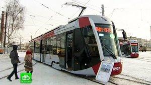В Северной столице продемонстрировали комфортабельные трамваи
