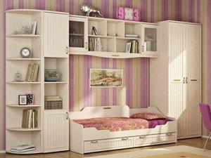 Детская комната для девочки. Мебель