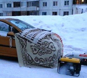 Отогрев авто в Новокузнецке   что делать, если автомобиль не заводится в морозы?