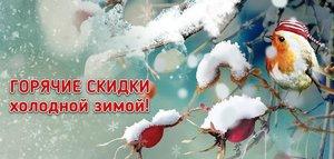 Горячие скидки холодной зимой!