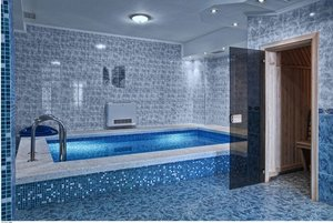 Русская баня на дровах с чистым бассейном
