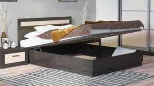 Мягкая кровать с подъемным механизмом