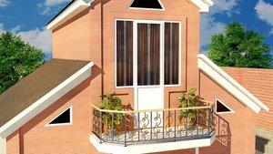Установите красивый французский балкон
