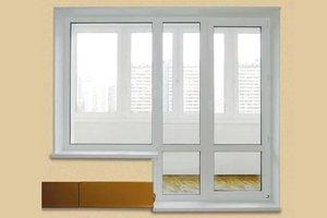 Отделка откосов балконной двери