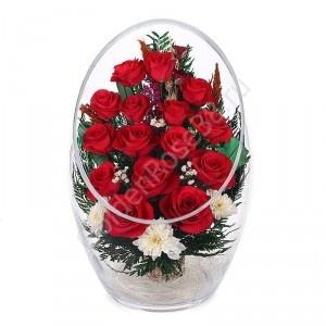 Цветы в вакууме (в стекле)