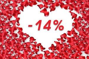 С Днем Влюбленных! Скидка 14%!