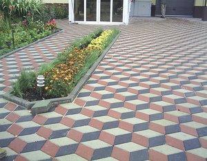 Тротуарная плитка различных форм