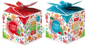 Заказать новогоднюю упаковку для сладких подарков в Вологде