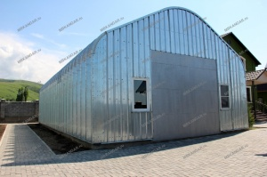 Ангар арочный бескаркасный быстровозводимый разборный со склада