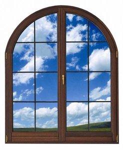 Деревянные арочные окна любых размеров на заказ