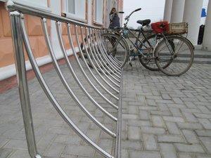 Велопарковка на заказ из нержавейки в Ярославле
