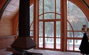 Производство деревянных арочных евроокон