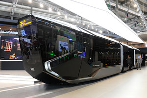В Москве представили трамвай R1 нового поколения из Екатеринбурга