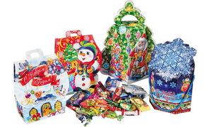 Заказ новогодних сладких подарков оптом