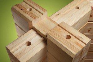 Что лучше при сборке бруса – гвозди или деревянные нагеля?