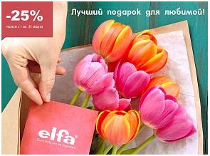 Акция: «Elfa – лучший подарок для любимой! Скидка - 25%»