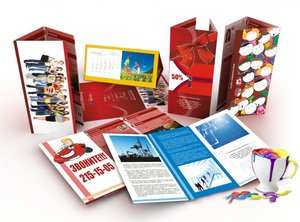 Разработка и печать рекламных буклетов