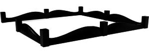 Широкий выбор гранитных оград различных форм в Новотроицке. Качественные гранитные ограды по типовым и индивидуальным проектам