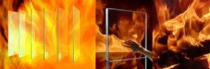 Огнеупорное стекло для камина и печи