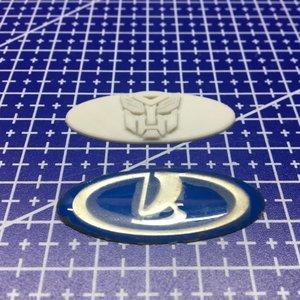 3D печать логотипа для автомобиля Лада Калина